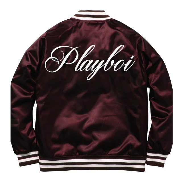 SATIN PLAYBOI BASEBALL JACKET by MENACE