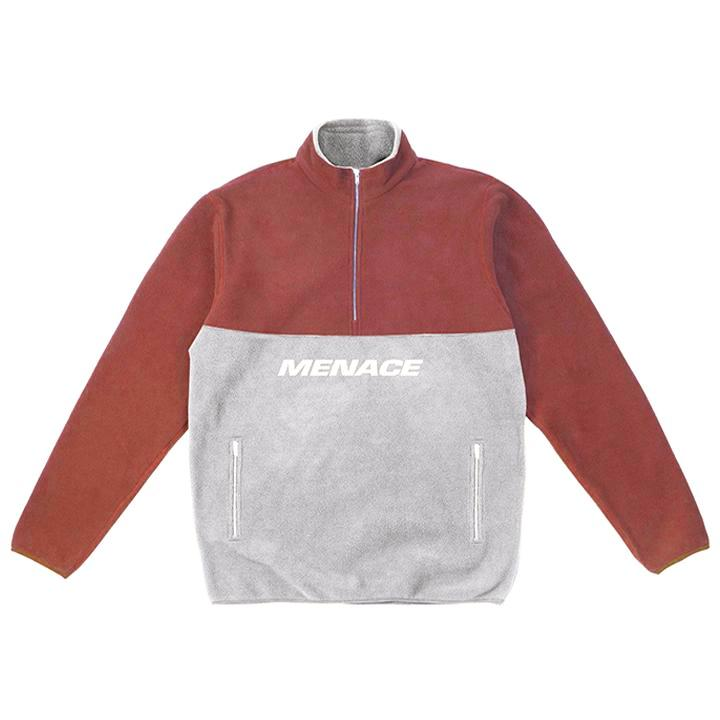 BRUSHED FLEECE HALF-ZIP JACKET by MENACE