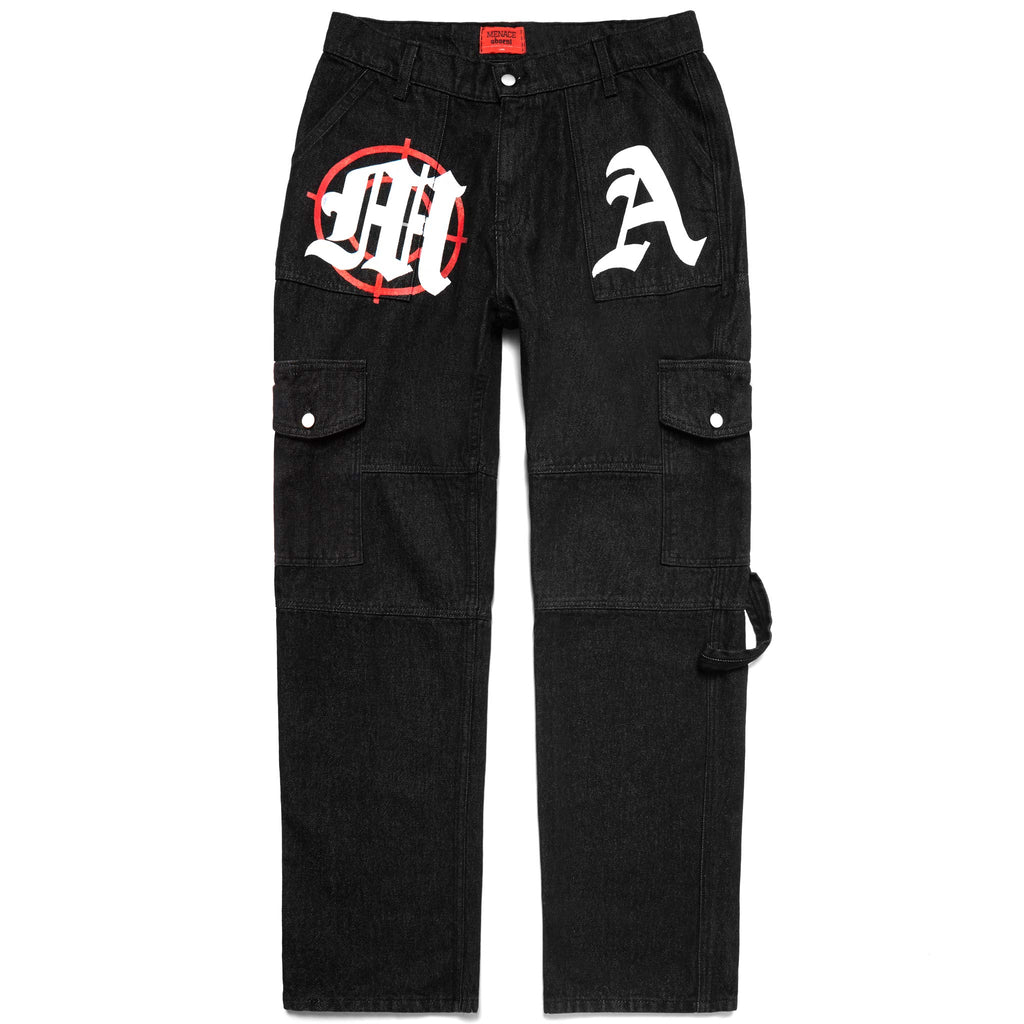 TARGET PRACTICE MULTI-PANEL DENIM PANTS-Pants-MENACE ®