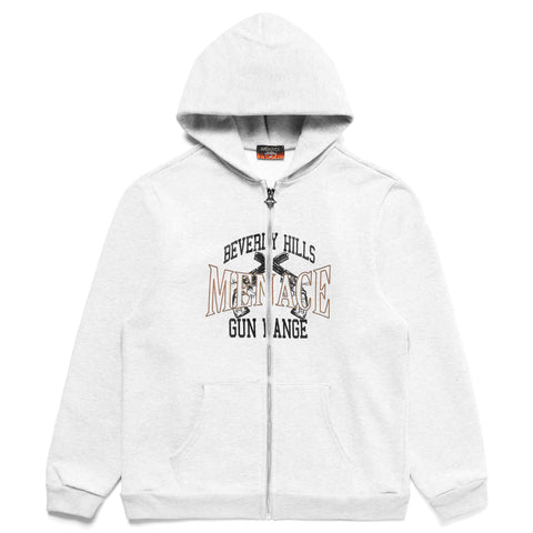 BEVERLY HILLS GUN RANGE ZIP-UP HOODIE