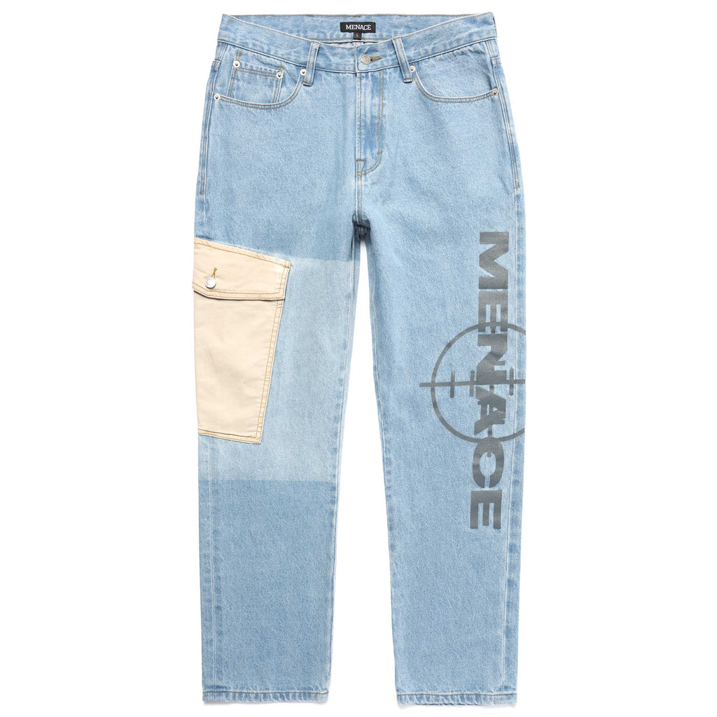 TARGET LOGO CARGO POCKET DENIM PANTS-Pants-MENACE ®