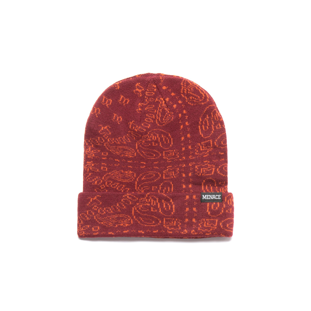 PAISLEY JACQUARD BEANIE by MENACE