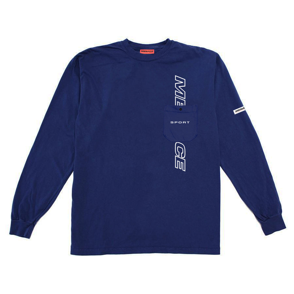 LOGO POCKET LONGSLEEVE-Long-sleeve T-Shirt-MENACE ®