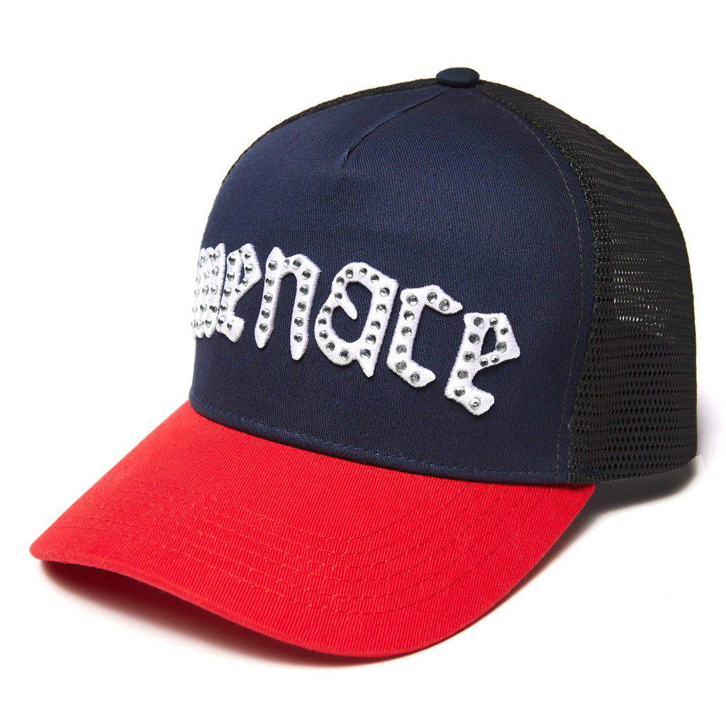 RHINESTONE TRUCKER CAP-Cap-MENACE ®