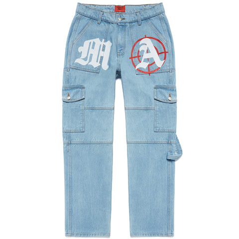 TARGET PRACTICE MULTI-PANEL DENIM PANTS
