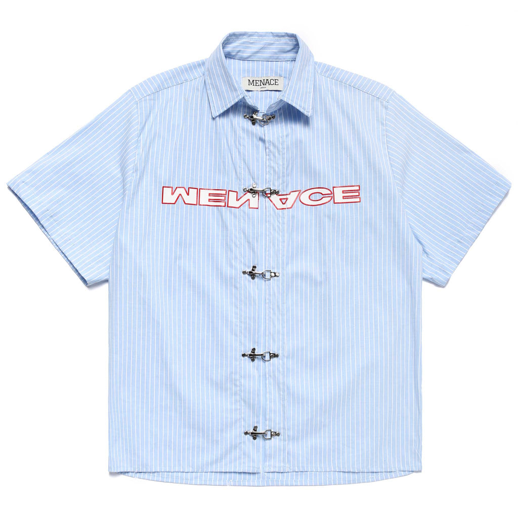 BLUE COLLAR CLASP COLLARED SHIRT Shirt MENACE Los Angeles Streetwear Clothing