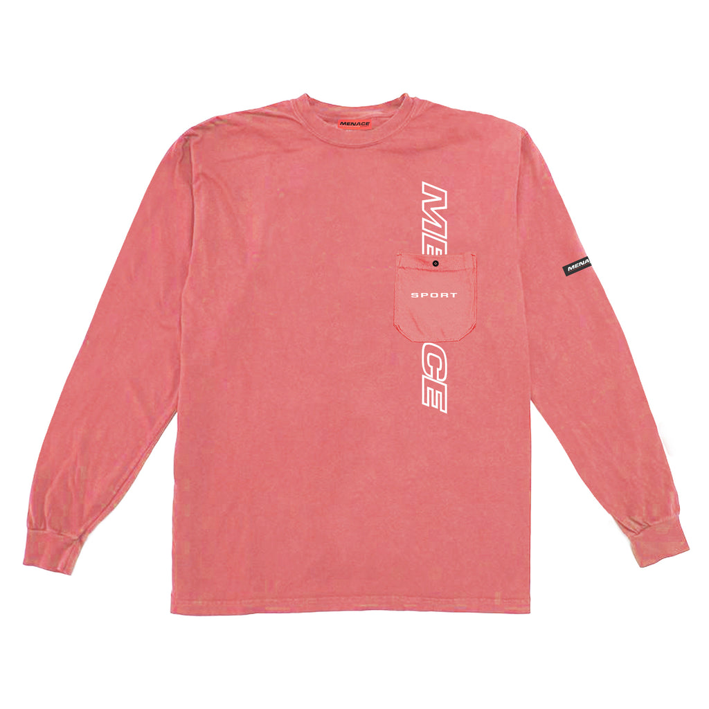 LOGO POCKET LONGSLEEVE - MENACE LOS ANGELES