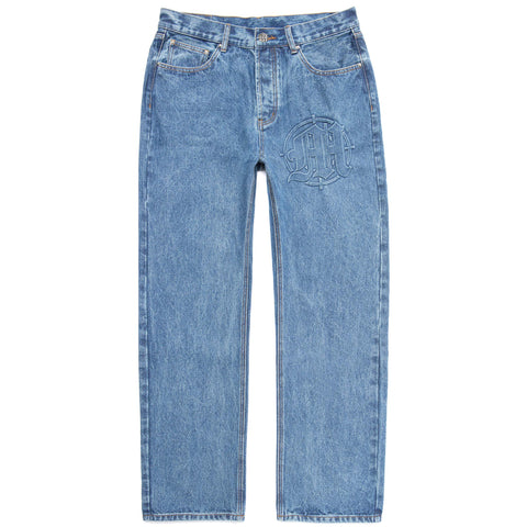 EMBOSSED TARGET LOGO DENIM PANTS