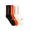 MENACE CORPORATION ASSORTED LOGO SOCKS (4 PACK) by MENACE