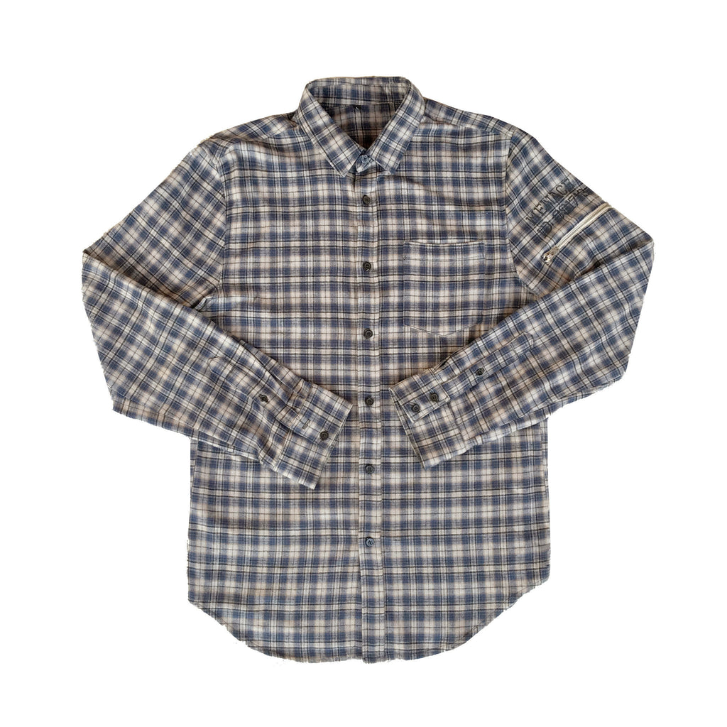UTILITY FLANNEL BUTTON-UP SHIRT Long-sleeve Button-up Shirt MENACE Los Angeles Streetwear Clothing