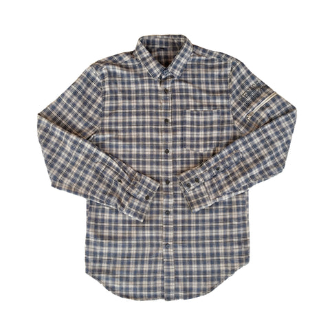 UTILITY FLANNEL BUTTON-UP SHIRT
