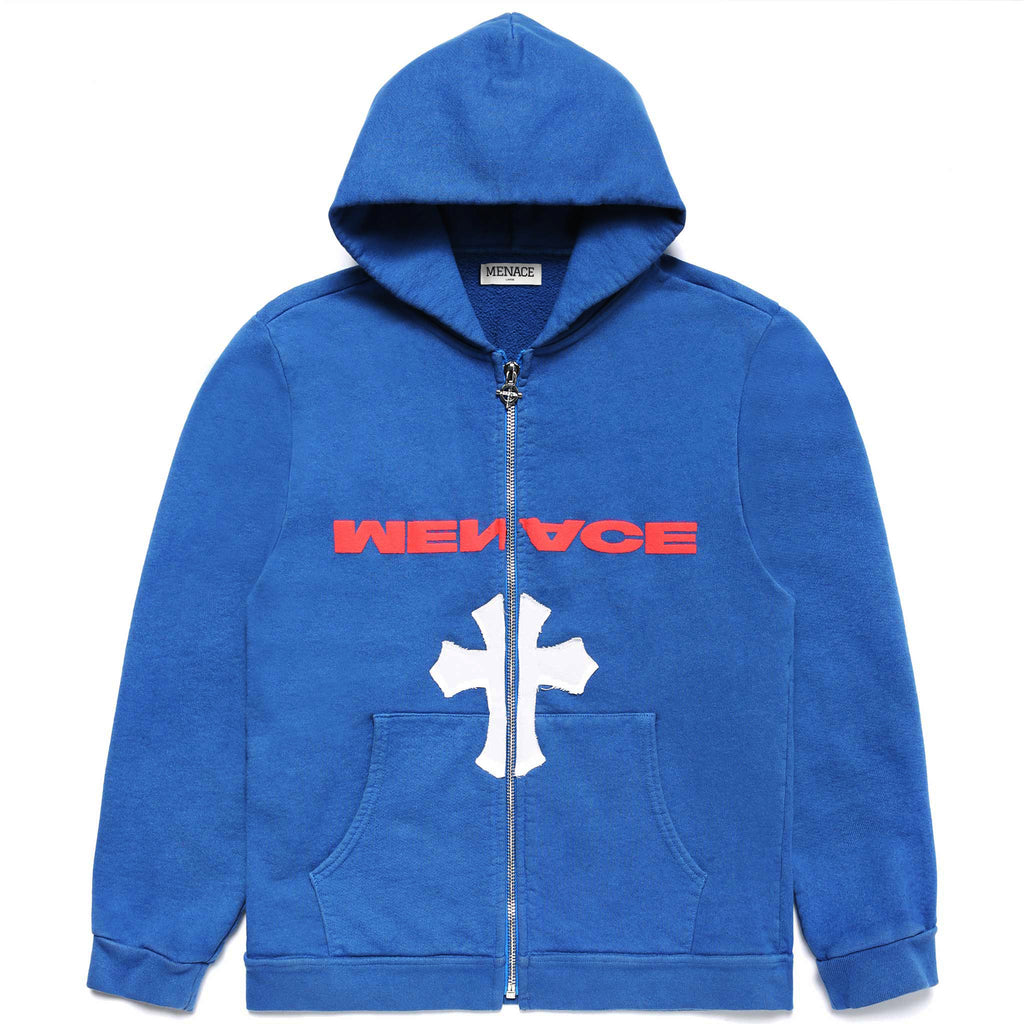 NO ONE IN THE WORLD OWES YOU SHIT ZIP-UP HOODIE - MENACE LOS ANGELES