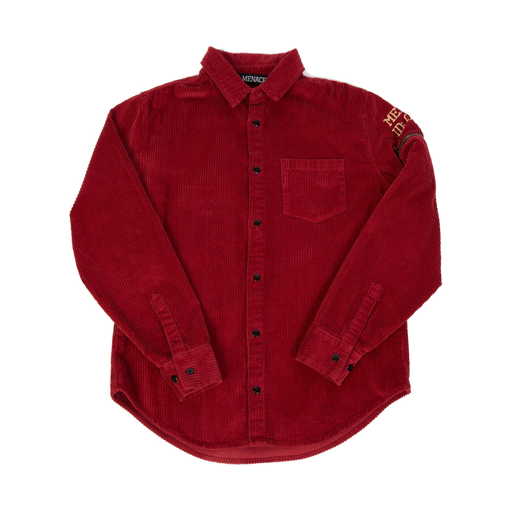 CORDUROY UTILITY BUTTON-UP SHIRT - MENACE LOS ANGELES