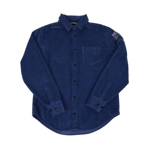 CORDUROY UTILITY BUTTON-UP SHIRT
