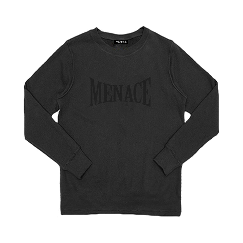 MENACE LOGO TONAL FRENCH TERRY CREWNECK - MENACE LOS ANGELES