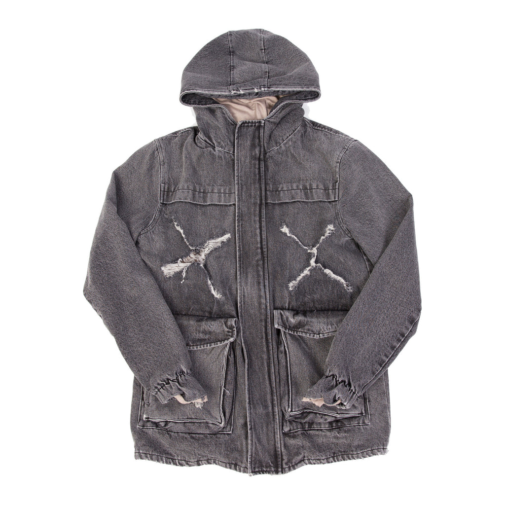 STENCIL HOODED MILITARY PARKA-Parka-MENACE ®