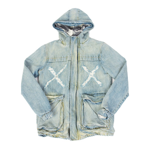 STENCIL HOODED MILITARY PARKA