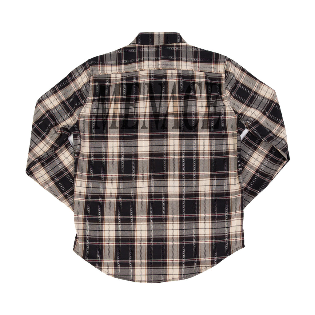 MULTI-PLAID FLANNEL BUTTON-UP by MENACE