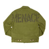 OVERSIZED STENCIL BRUSHED-TWILL JACKET - MENACE LOS ANGELES