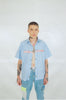 BLUE COLLAR CLASP COLLARED SHIRT - MENACE LOS ANGELES