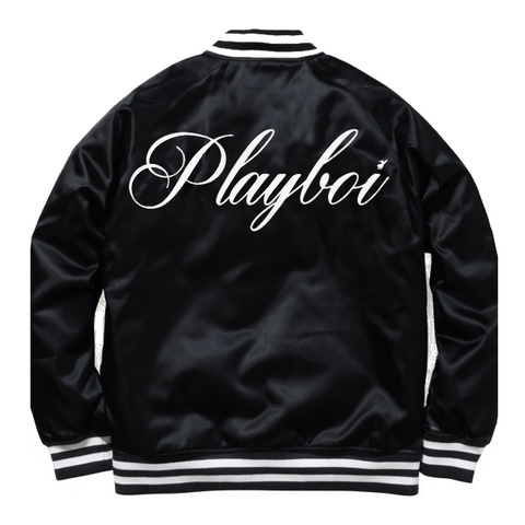 SATIN PLAYBOI BASEBALL JACKET