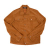 OVERSIZED STENCIL BRUSHED-TWILL JACKET-Trucker Jacket-MENACE ®