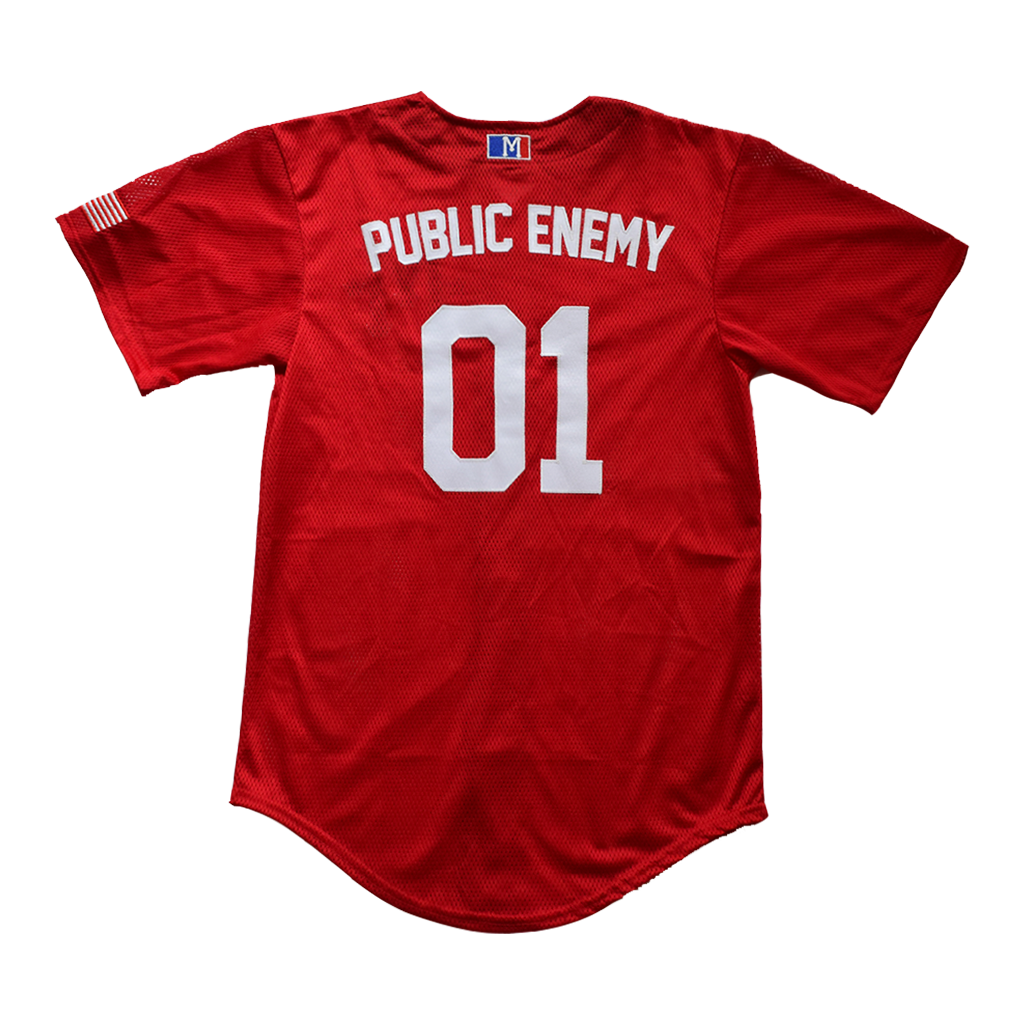 PUBLIC ENEMY BASEBALL JERSEY - MENACE LOS ANGELES