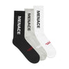 MENACE LOGO SOCKS (GRADIENT 3 PACK)-Socks-MENACE ®