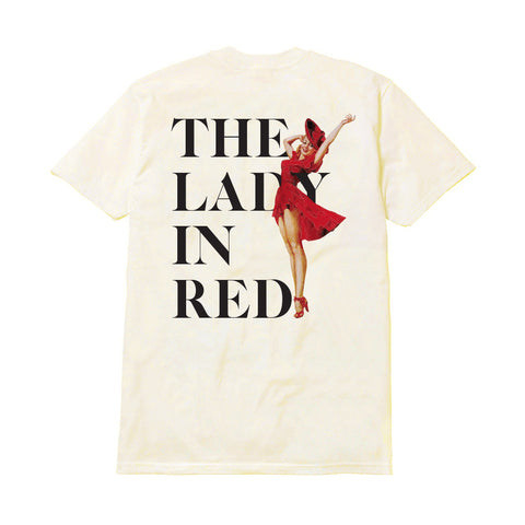 THE LADY IN RED T-SHIRT