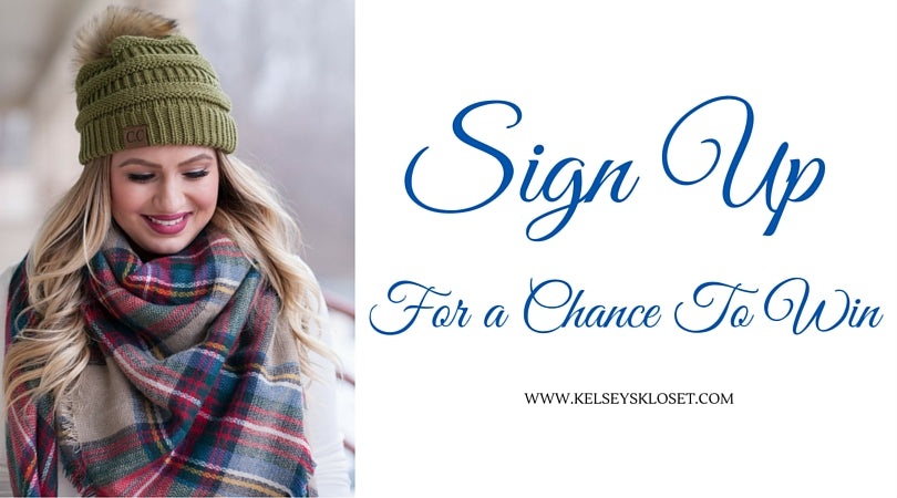 ENTER TO WIN A BLANKET SCARF