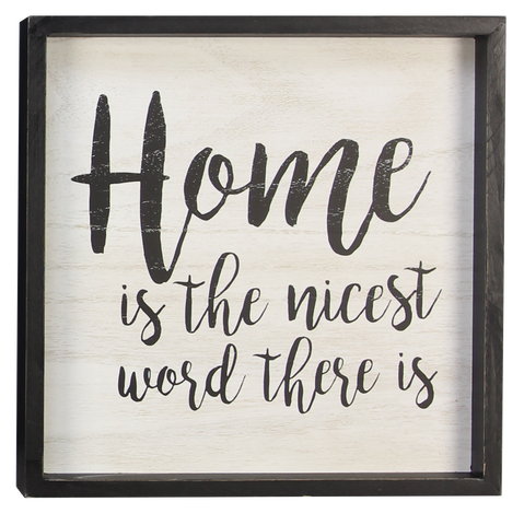 Home Is Nice Sign
