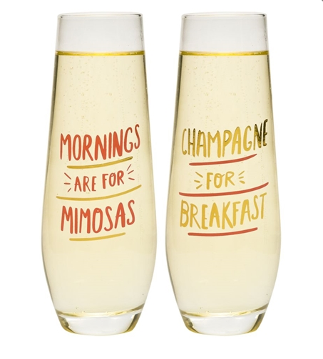 Champagne Mimosa Flute Set