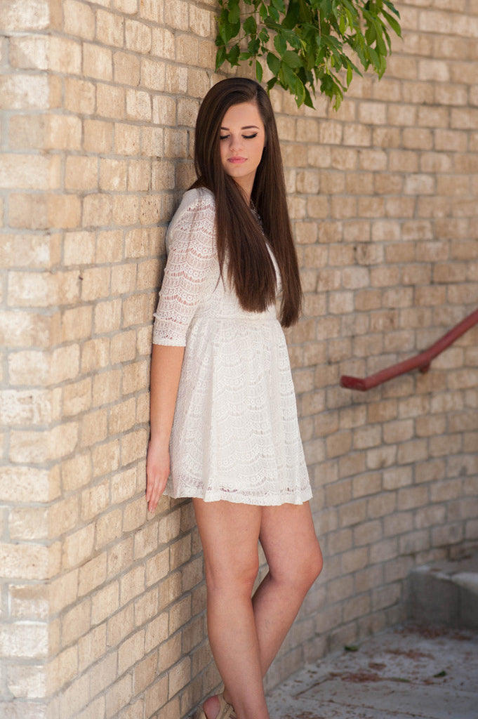 Ivory Laced To Perfection Dress - 1