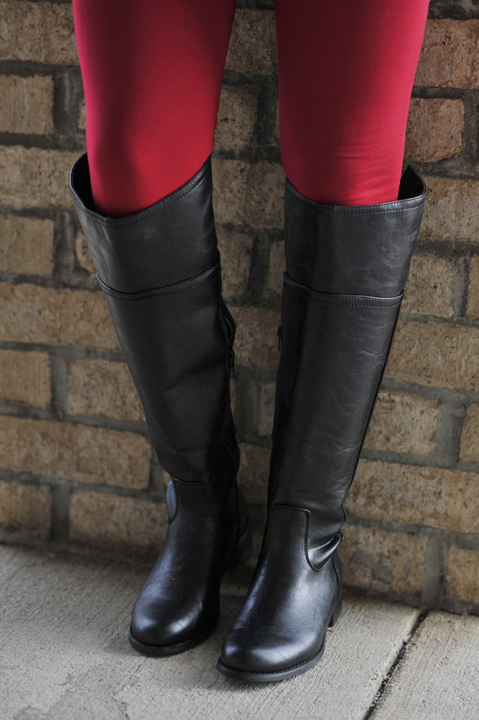 Black Tall Timbers Boots - 1