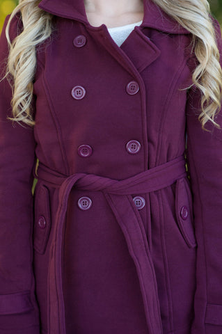 Burgundy Pea Coat