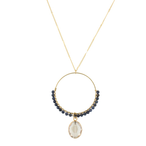 Haute Necklace- Jet Druzy