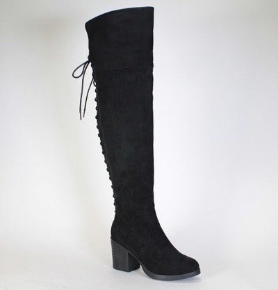 Over The Knee Boots- Black - 1