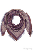 Aquare Multi Pattern Scarf- Burgundy