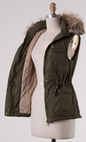 BEST SELLING Fur Vest- Olive