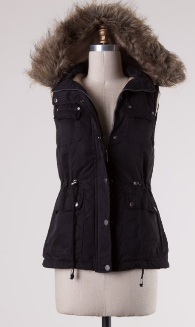 BEST SELLING Fur Vest- Black