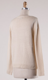 Criss Cross Sweater- Taupe