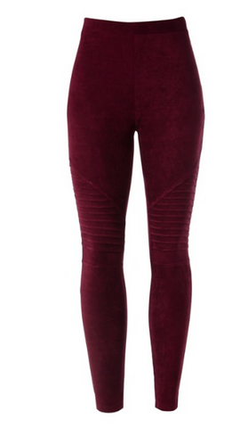 Motto Leggings- Plum
