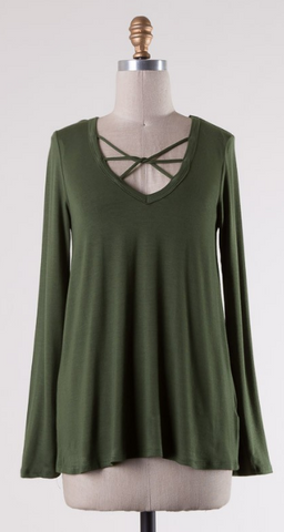 Transitions Top- Olive