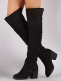 Over The Knee Boots- Black - 2