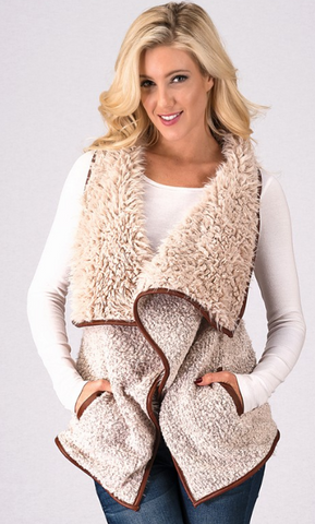 Sheep Skin Fur Vest