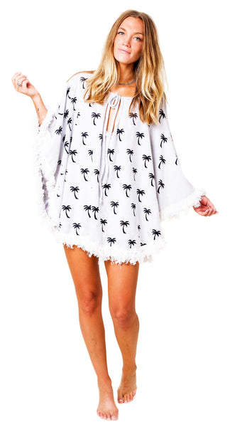 SUMMER Poncho - White