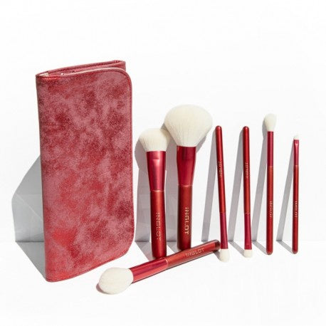 Inglot - 7pc red marble brush set