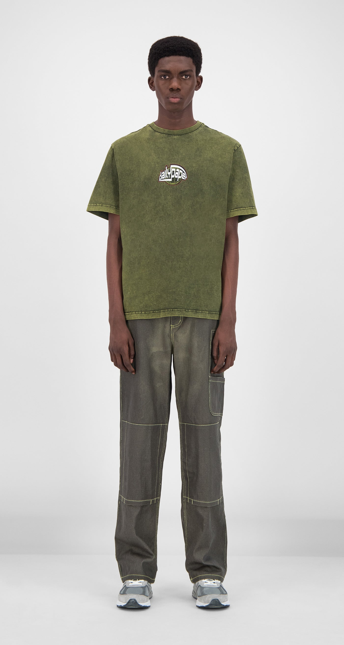 Daily Paper - Acid Macaw Green Gusul T-Shirt Men
