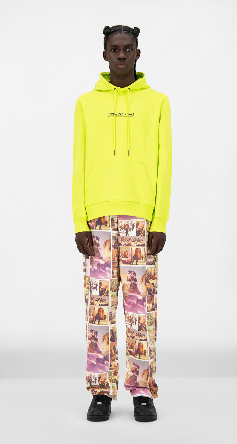 Daily Paper - Acid Lime Jaaci Hoody - Men Front