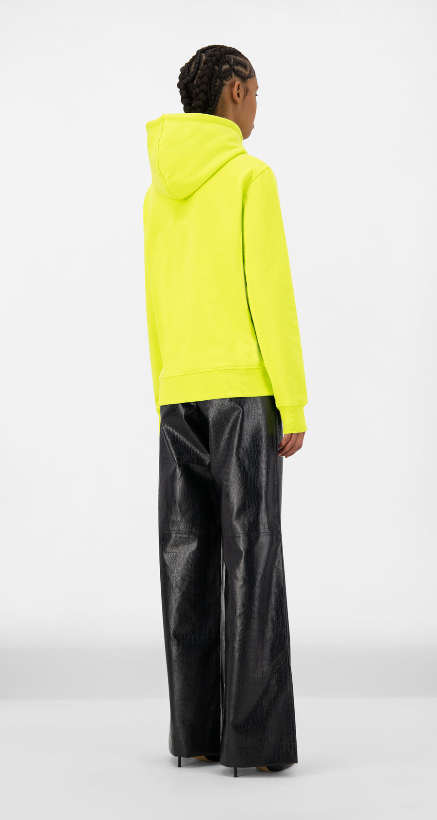 Daily Paper - Acid Lime Jaaci Hoody - Women Rear